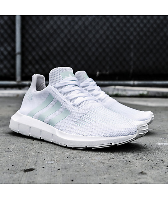 ... adidas Swift Run White, Greone & Ice Mint Shoes