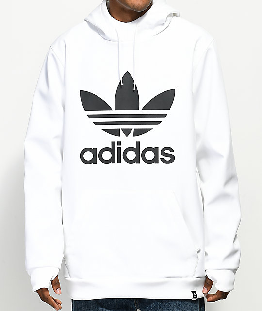 9e568d9861 adidas Team Tech Fleece White Hoodie