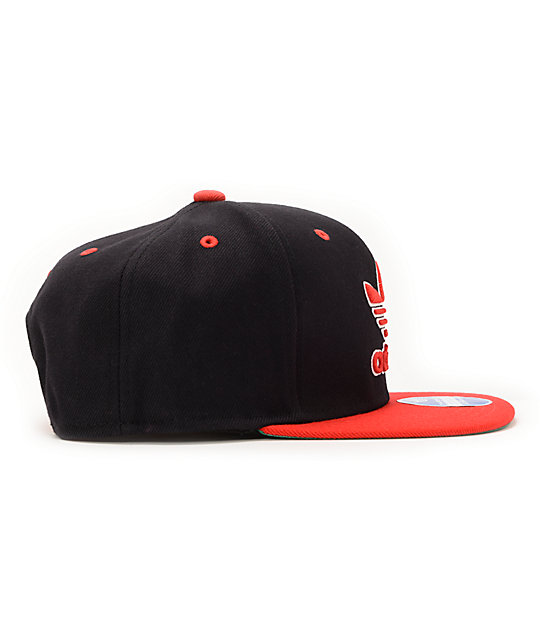... adidas Thrasher Black   Red Snapback Hat ... a046926568d