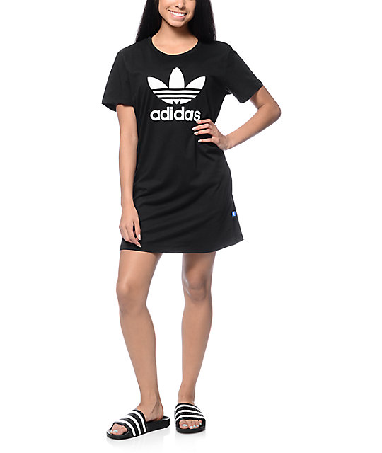 baeb28e70946 ... adidas Trefoil Black T-Shirt Dress ...