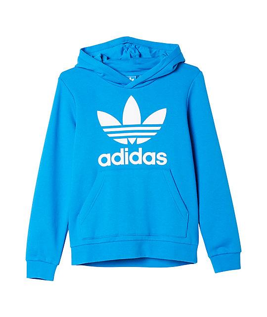 8aa16005925c3 adidas Trefoil Blue Hoodie (Boys)
