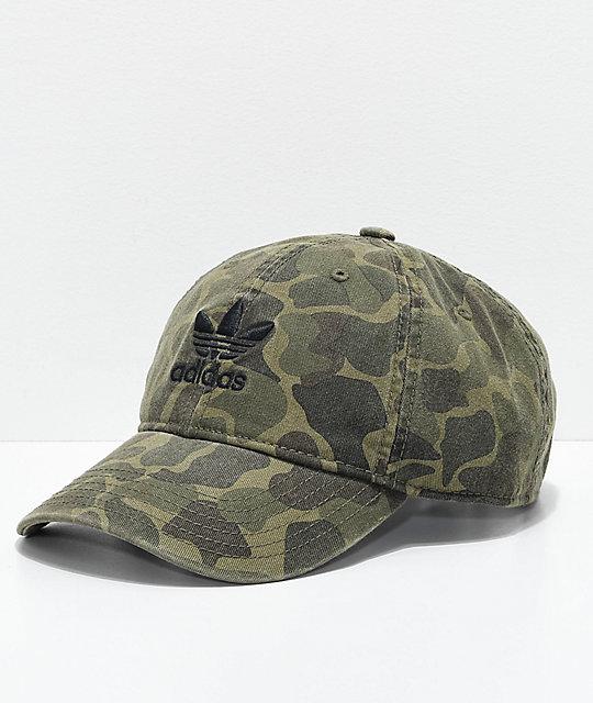 6280a97c6e0 adidas Trefoil Camo Strapback Hat