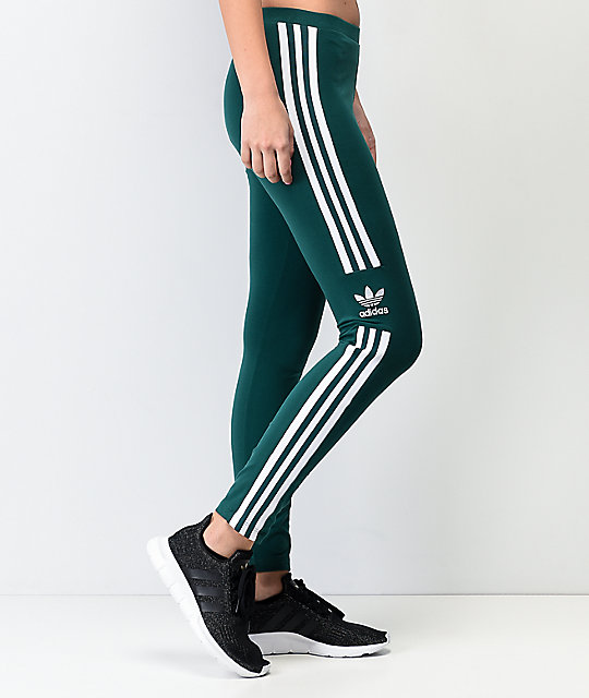 adidas Trefoil Collegiate Green & White Leggings