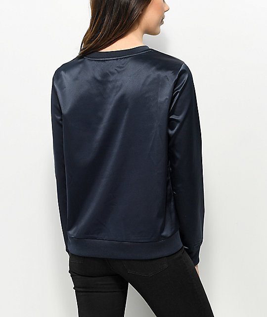 adidas Trefoil Dark Blue Ink Crew Neck Sweatshirt