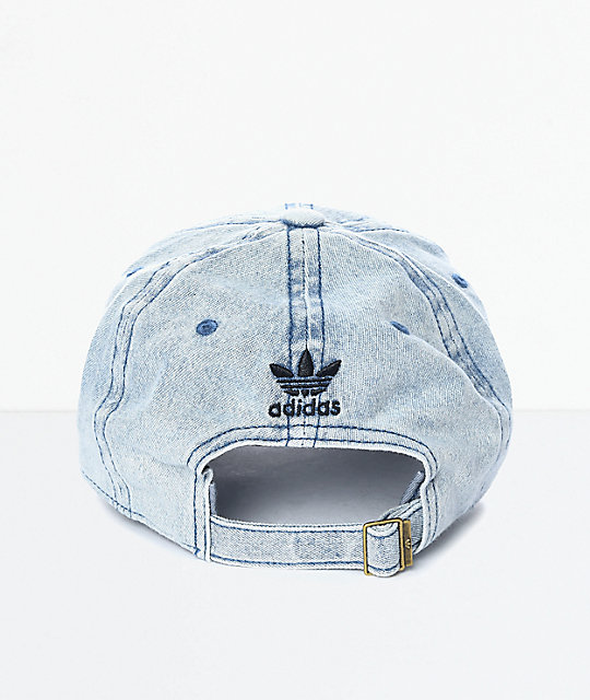 244bda9c27960 adidas Trefoil Denim Baseball Hat  adidas Trefoil Denim Baseball Hat