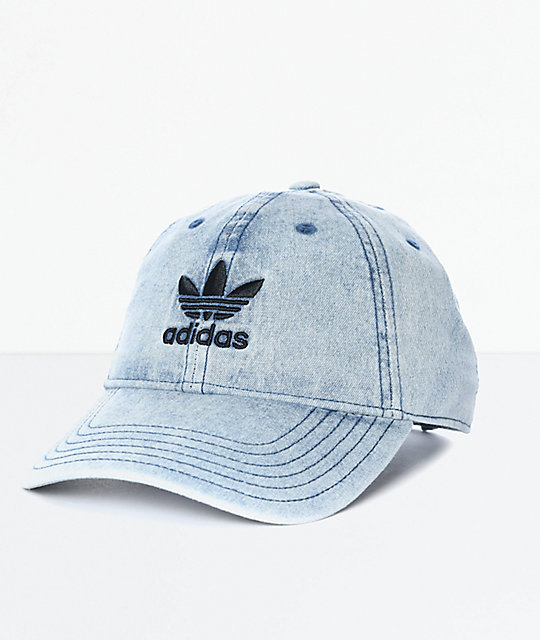 ad23ea5572a adidas Trefoil Denim Baseball Hat