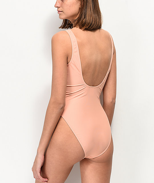 adidas Trefoil Dusty Pink One Piece Swimsuit