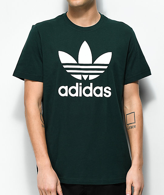 Adidas Green T Night Trefoil Shirt mNv8n0w