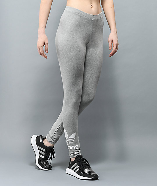 adidas Trefoil Heather Grey Leggings