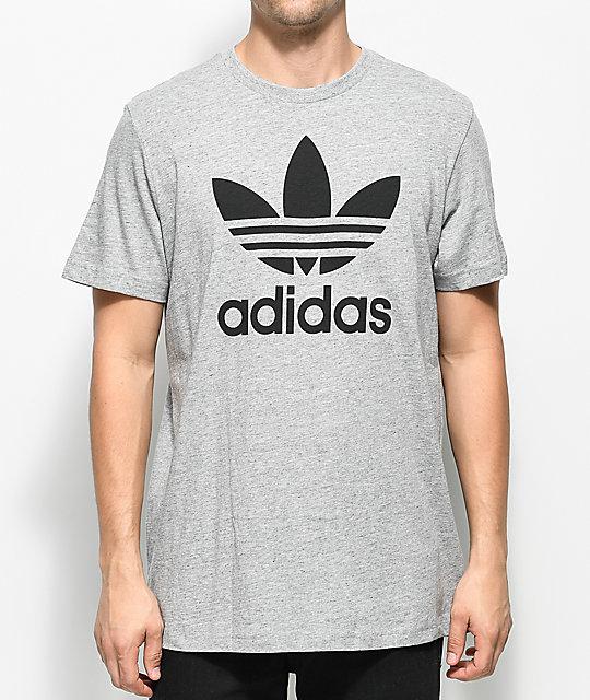 adidas Trefoil Heather Grey T Shirt