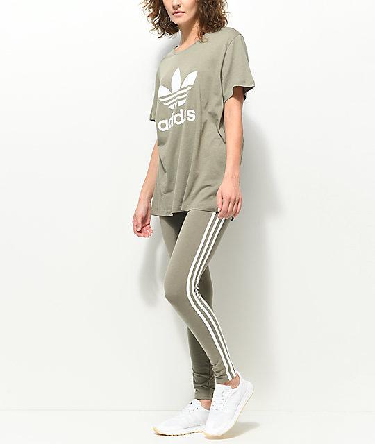 olive green adidas shirt