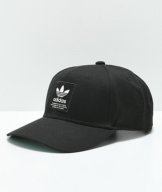 6c6cfdcb691 adidas Trefoil Patch Black   White Snapback Hat