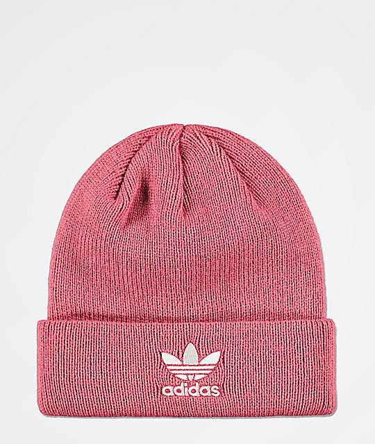 adidas Trefoil Pink   White Beanie  a94bc39be6f