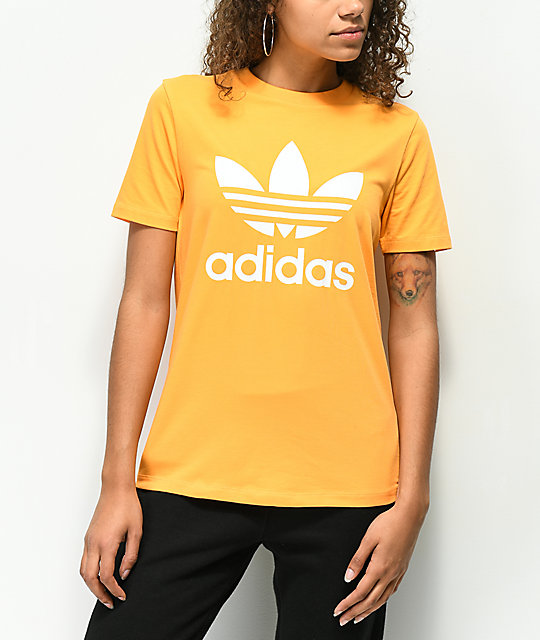 Trefoil Real Adidas Gold Zumiez Shirt T BFdqWd