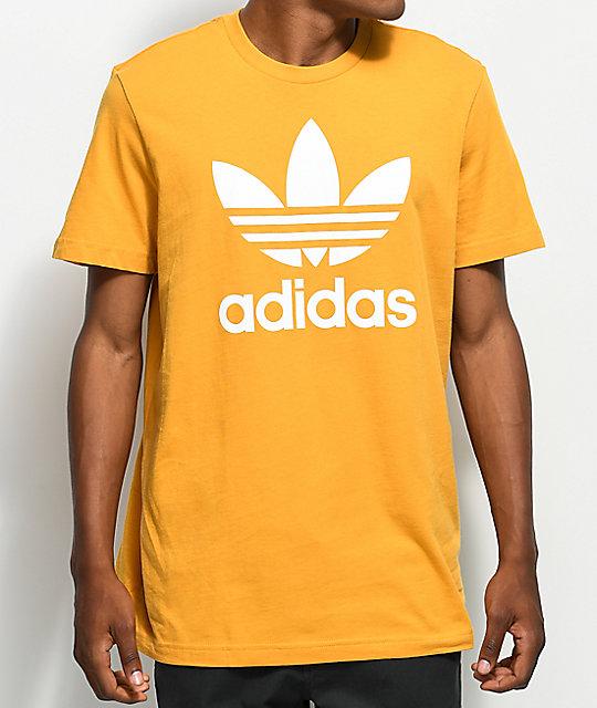 adidas Trefoil Tactile camiseta en color amarillo ...