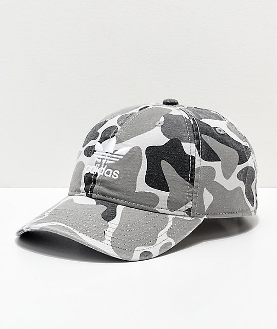 adidas Trefoil White Forest Camo Strapback Hat  d8f47acc28b