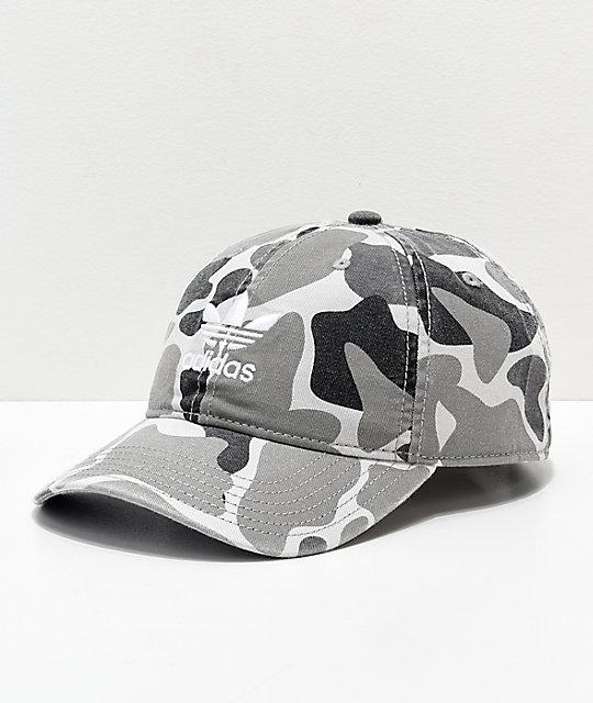 adidas Trefoil White Forest Camo Strapback Hat