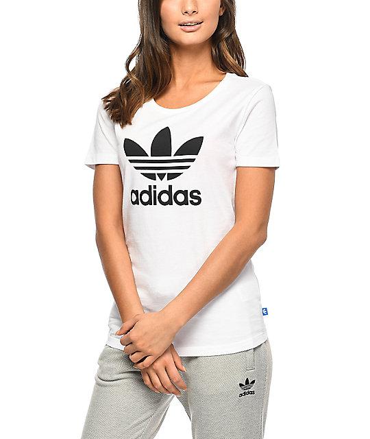 detailing exquisite design unique design adidas Trefoil White T-Shirt