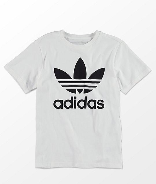 833cdc942 adidas Trefoil camiseta blanca para niños