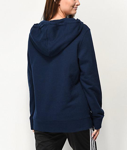 Azul Con Marino Adidas Sudadera Capucha Trefoil mO8y0vNwPn