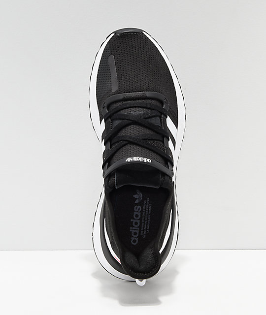reputable site 361d6 12649 ... adidas U Path Run Ash Black   White Shoes ...