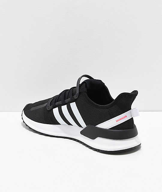 adidas U Path Run Ash Black & White Shoes