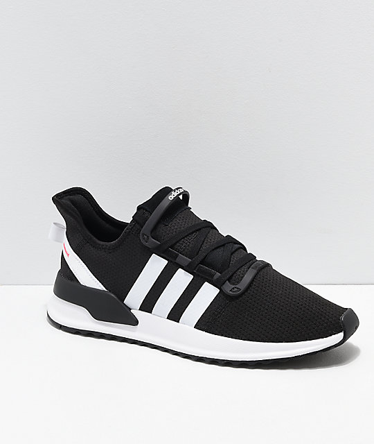 adidas U Path Run White Shoes Zumiez    adidas U Path Run Sort, hvid og pink sko   title=          Zumiez