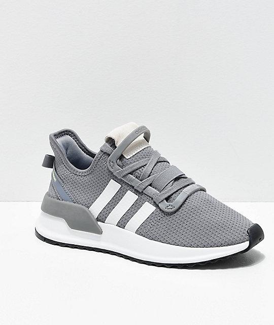 adidas U Path Run White Shoes Zumiez    adidas U Path Run Grey & White Shoes   title=          Zumiez