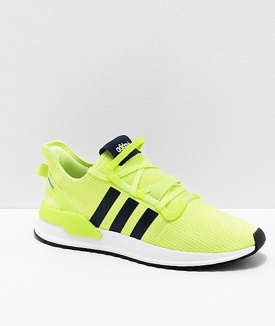 Run Shoes Adidas U White Path Yellowamp; Highlighter ulcTFK1J53