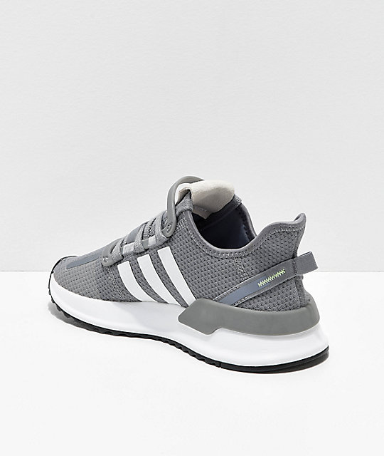 adidas U Path Run zapatos grises y blancos