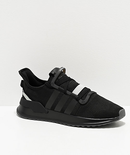 adidas U Path Run zapatos negros y plateados