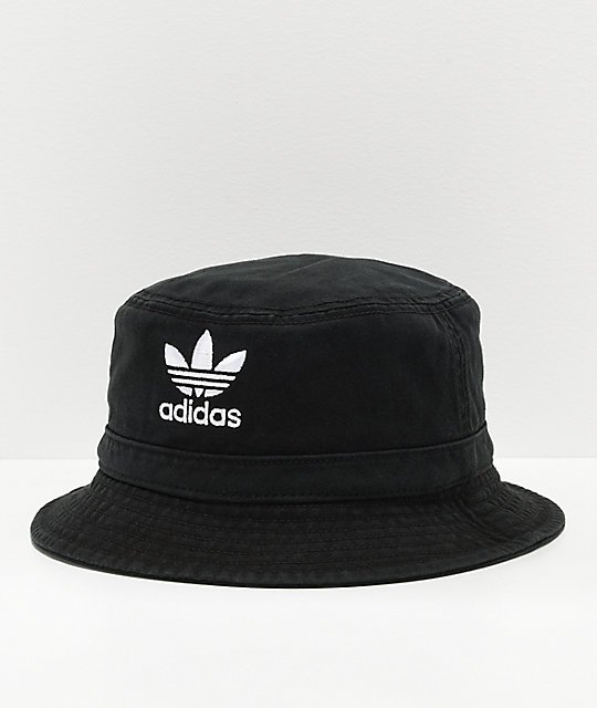 0b9086d88ab adidas Washed Black Bucket Hat