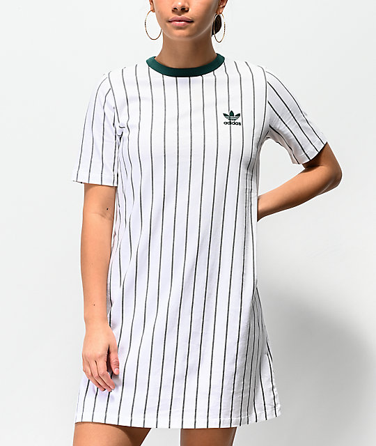 adidas White Stripe T-Shirt Dress