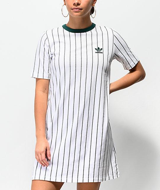 46ea84ad98 adidas White Stripe T-Shirt Dress