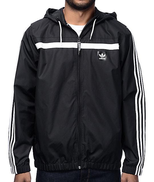 Adidas Windbreaker 2 Black Jacket Zumiez