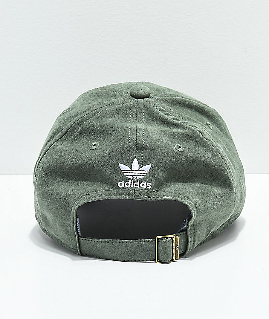 ... adidas Women s Original Base Green Suede Strapback Hat a469355801a
