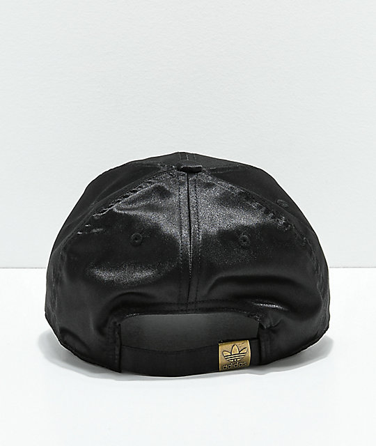 ... adidas Women s Original Black Satin Strapback Hat e042ab8d0d