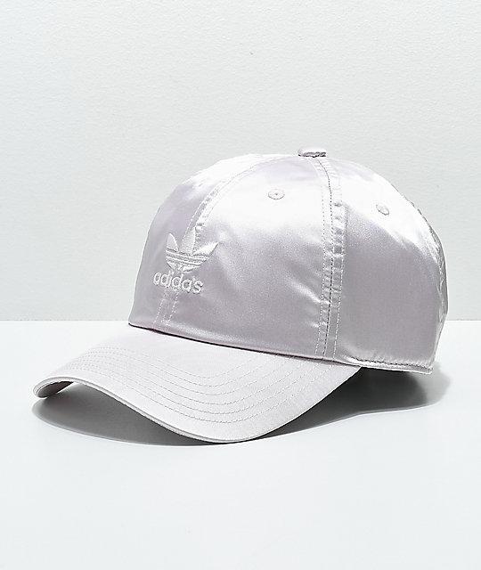2046280af8e adidas Women s Original Ice Purple Satin Strapback Hat