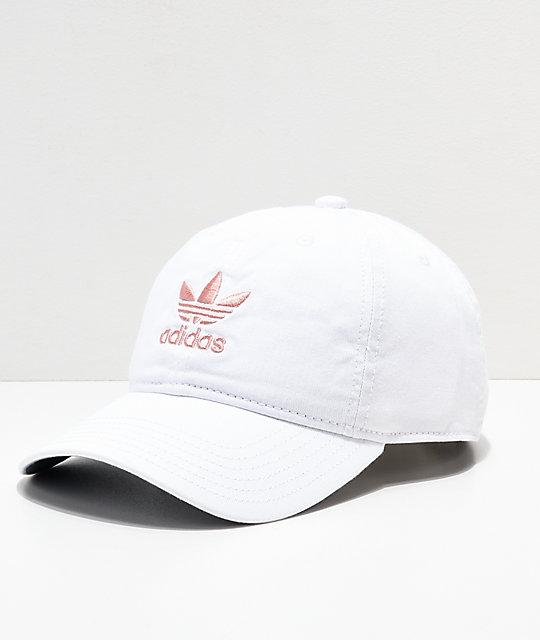 adidas Women s Original White   Pink Strapback Hat  57e79864e10
