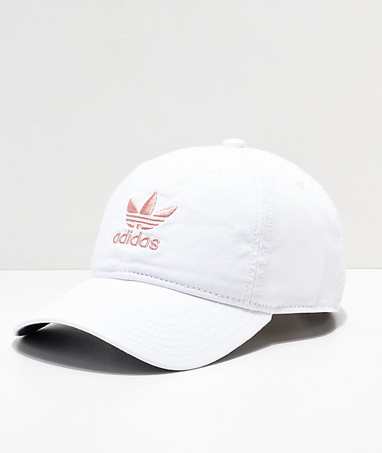 b83619a6 where to buy adidas womens original white pink strapback hat dd2f3 7e443