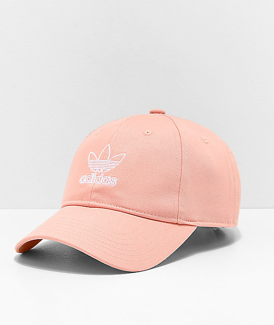 adidas Women s Originals Relaxed Outline Pink Strapback Hat  b9174a15c