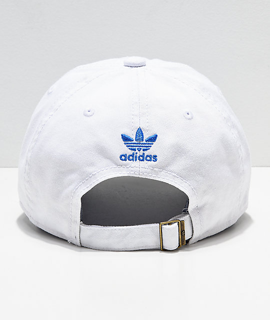 adidas Women's Originals White & Blue Strapback Hat
