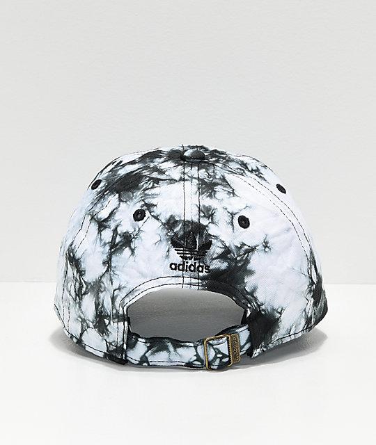 ba6cbbcc adidas Women's Relaxed Black & White Tie Dye Strapback Hat | Zumiez
