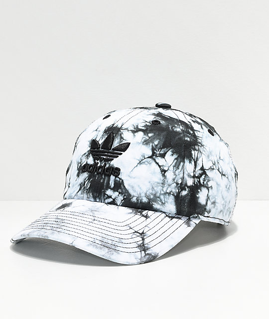 a0fa024b1ae adidas Women s Relaxed Black   White Tie Dye Strapback Hat