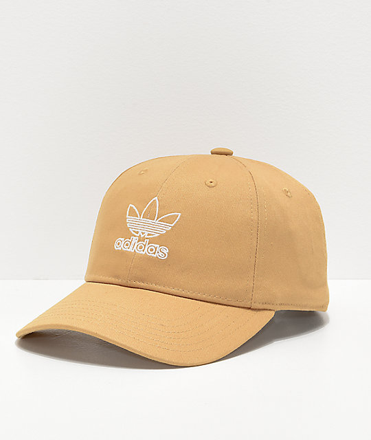 adidas Women s Relaxed Outline Logo Gold Strapback Hat  6f4c3b1a6