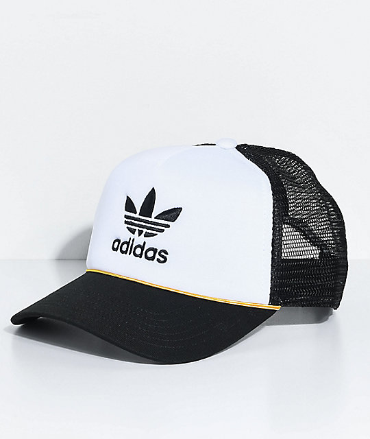 adidas Women's White & Black Trucker Hat ...