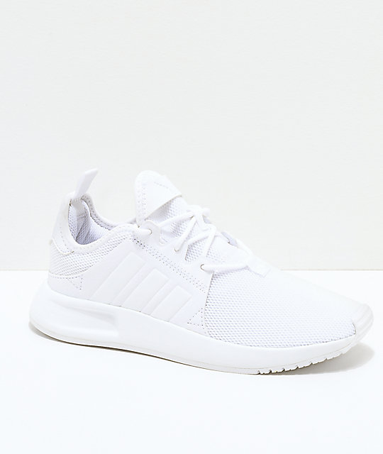 adidas Xplorer All White Shoes ...