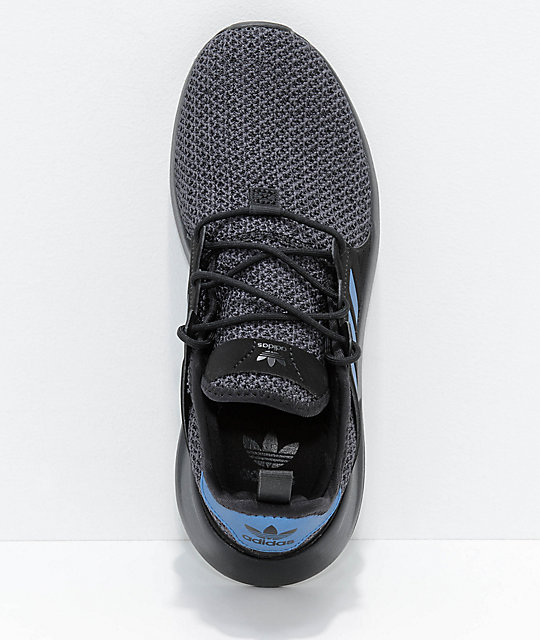 adidas Xplorer Black & Blue Knit Shoes