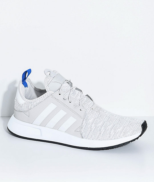 adidas Xplorer Core  Light Grey, Blue and White Shoes