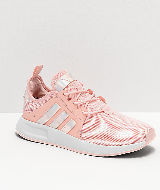 Pink adidas tennis shoes